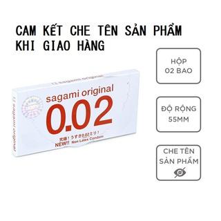 Bao cao su Sagami 002 bcs siêu mỏng siêu dai siêu chịu lực 1 hộp 2c có che tên sản phẩm khi giao hàng - thegioisoi thumbnail