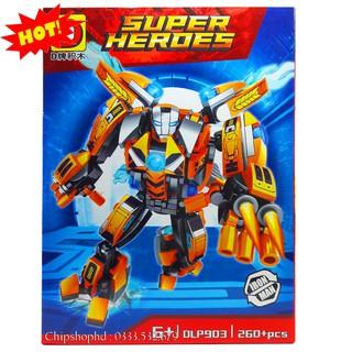 Bộ Lego Xếp Hình Ninjago Siêu Robot. Gồm 260 Chi Tiết. Lego Ninjago Lắp Ráp Đồ Chơi Cho Bé