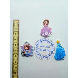 [Mã TOYDEC hoàn 20K xu đơn 50K] Công chúa lọ lem công chứa sofia phụ kiện trang trí charm slime thumbnail