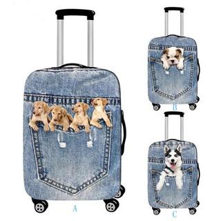 Bọc vali hình chú chó đàn hồi dễ thương(Not include suitcase) thumbnail