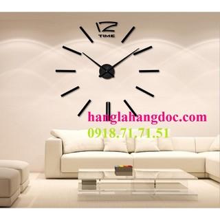 Đồng hồ nghệ thuật DIY 360 độ Clock (loại lớn) dán tường 1,5m đường kính version 4