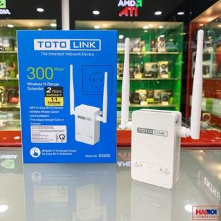 Bộ kích sóng wifi Totolink EX200 Tốc độ N300Mbps chính hãng Bh 2 năm có cổng lan để cắm cho máy tính thumbnail