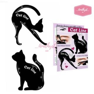 Set 2 Khuôn Kẻ Eyeliner, Tô Bầu Mắt Hình Mèo Cat Line