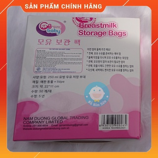 Túi Trữ Sữa GB Baby 250ml ( Hộp 50 Túi)