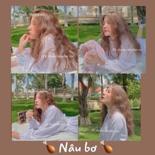 [KHÔNG TẨY] Thuốc nhuộm tóc Hàn Quốc màu NÂU BƠ thumbnail