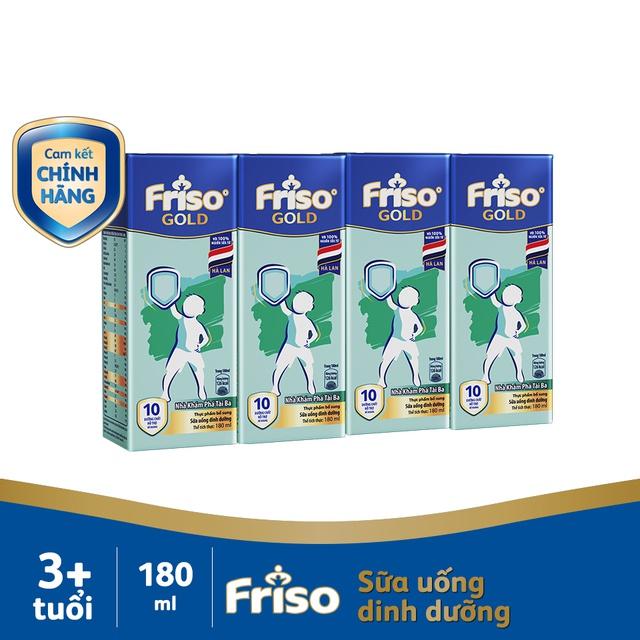[Nhập Mã MKBMFRI38 Giảm 38K] Lốc 4 hộp Sữa uống dinh dưỡng Friso Gold 180ml