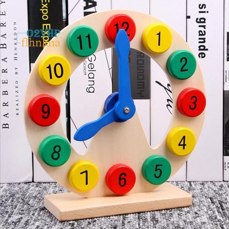 Wooden Toys Learn to Tell Time Wooden Digital Clock Teaching Aids Kids Baby Early Learning Toys for Children