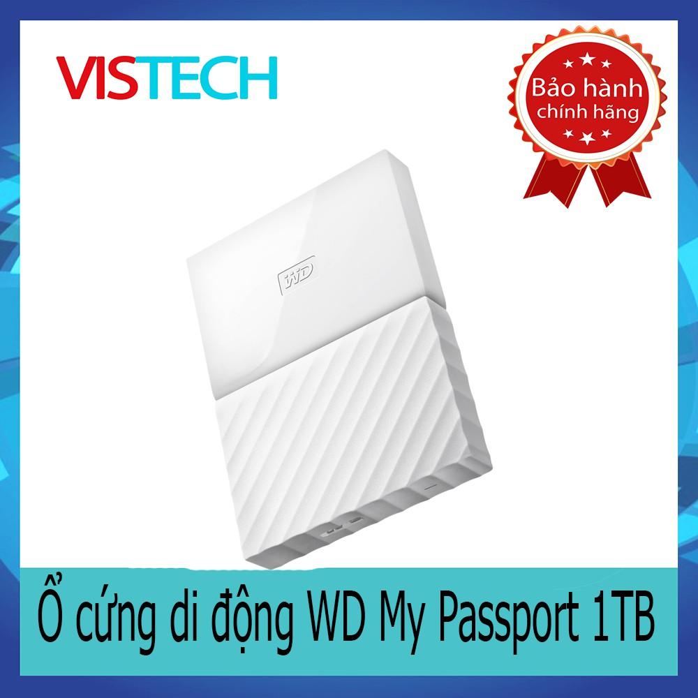 Ổ cứng di động WD My Passport 1TB - New 2016 (Trắng)