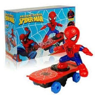 Đồ chơi người nhện lướt ván dùng pin phát nhạc, do choi nguoi nhen (kèm pin)