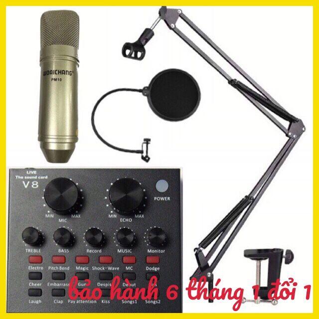Combo bộ mic thu âm livestream hát karaoke woaichang PM10 V8 chân màng lọc âm - 2695345 , 1244814930 , 322_1244814930 , 1000000 , Combo-bo-mic-thu-am-livestream-hat-karaoke-woaichang-PM10-V8-chan-mang-loc-am-322_1244814930 , shopee.vn , Combo bộ mic thu âm livestream hát karaoke woaichang PM10 V8 chân màng lọc âm