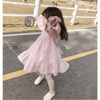 Váy cho bé gái - Váy hoa nhí Smartkids tay dài bo xinh xắn TE2626