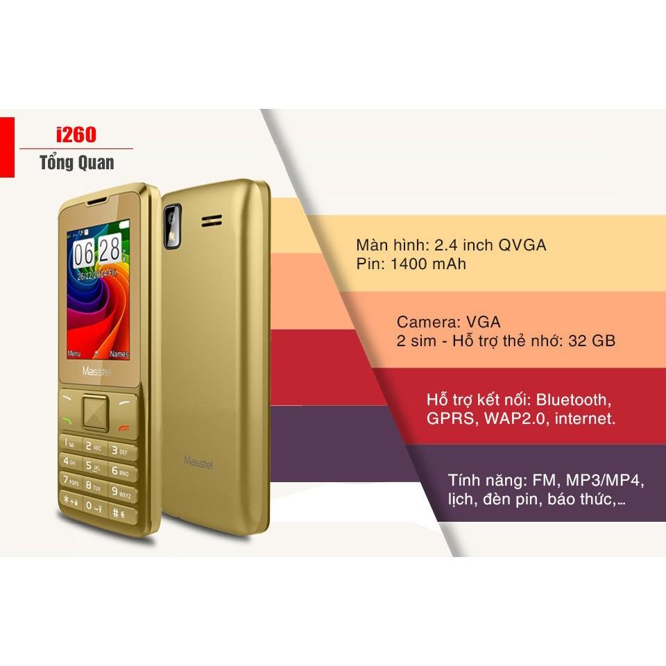Điện thoại Masstel I260 - 2 sim