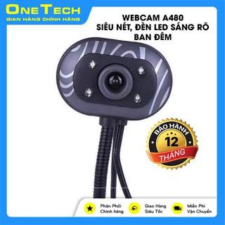 [Mã ELFLASH3 hoàn 10K xu đơn 20K] [Siêu rẻ] Webcam A480, Siêu Nét, Đầy Đủ Đèn LED sáng rõban đêm-W03