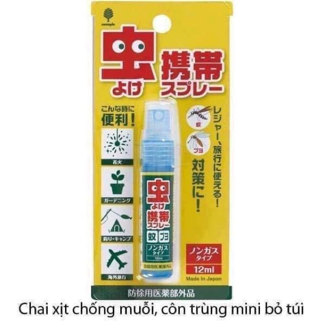 CHAI XỊT CHỐNG MUỖI, CÔN TRÙNG Bỏ Túi Mini-12ml