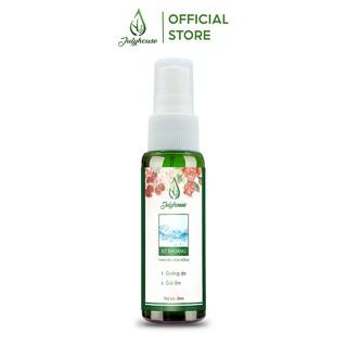 [Mã FMCGMALL - 10% đơn 250K] Xịt khoáng chiết xuất tinh dầu hoa hồng 38ml cấp ẩm dịu da JULYHOUSE