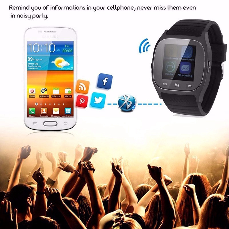 [COD]♥M26 Sport Watch For Android Smart Intelligent Bracelet Colorful Screen Digital BT Fitness