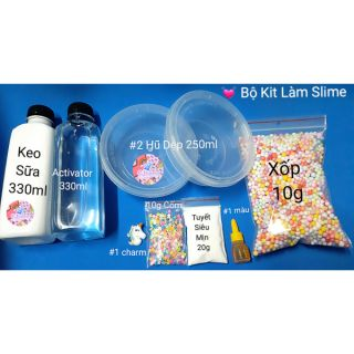 [ 69k ] Bộ Kit Làm Slime Cơ Bản