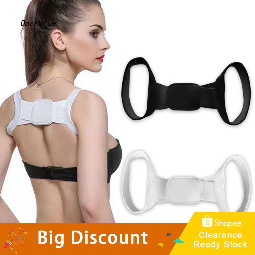 DKBL_Kid Adult Adjustable Posture Corrector Body Shoulder Back Support Belt Band