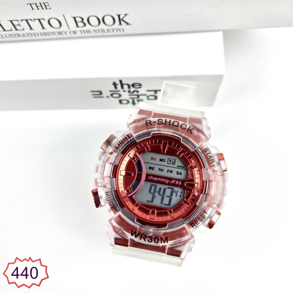 Đồng Hồ Nam Nữ Dây Trong Suốt HNW 440 Hot Trend