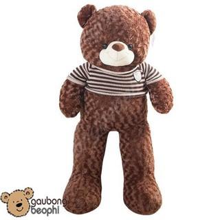 Gấu bông teddy áo len khổ vải 1m6 (size thật 1m4)