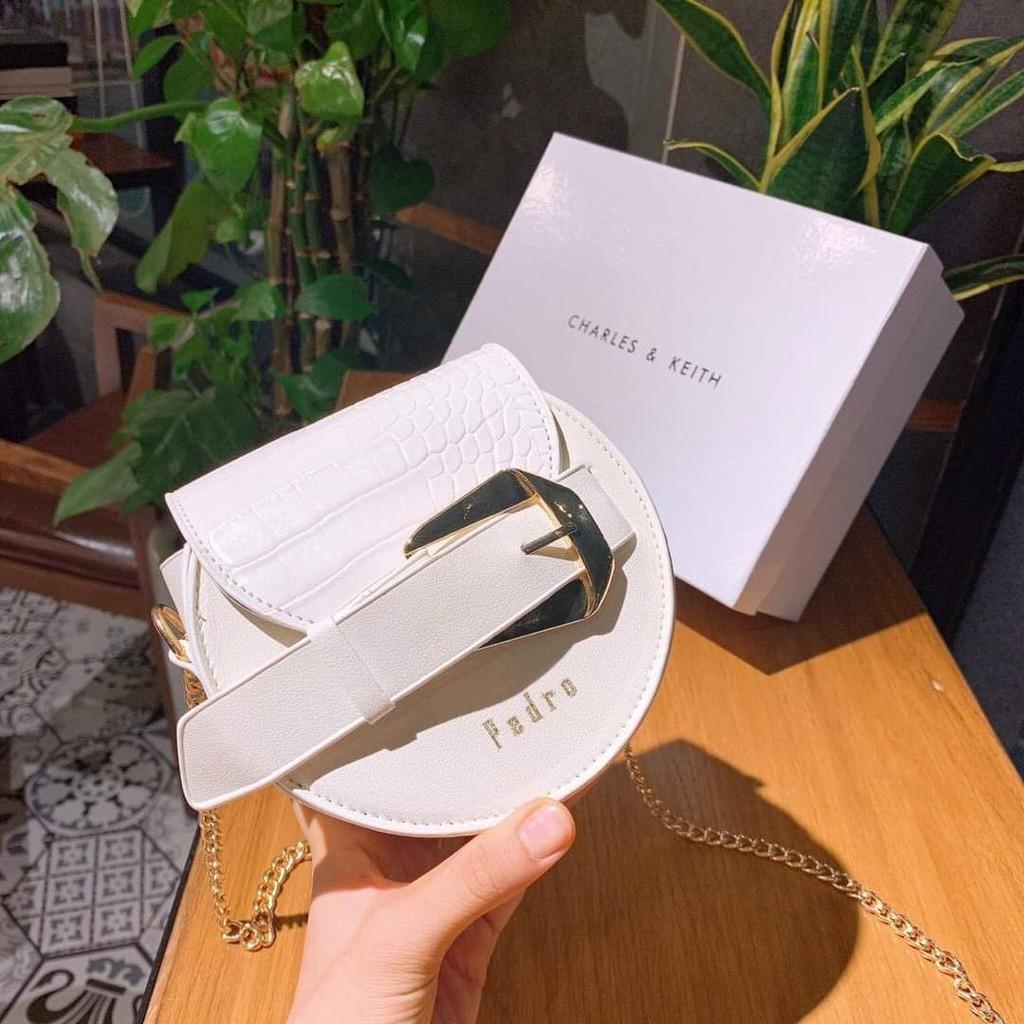 Túi tròn mini phối nịt túi tròn bán nguyệt thời trang hàng đẹp mẫu mới nhất TRONPRO01