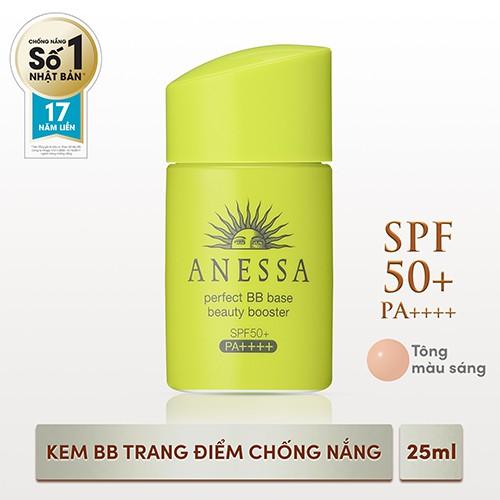 [HCM] Kem trang điểm chống nắng BB tông màu sáng Anessa Perfect BB Base Beauty Booster Light 25ml  _ 4901872096862