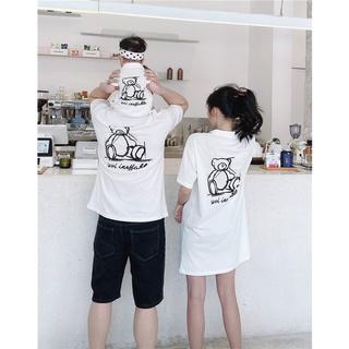 Áo gia đình cổ trụ Familylove - Đồng phục gia đình họa tiết gấu hai mặt chất liệu cotton 100 % co giãn mềm mịn thumbnail