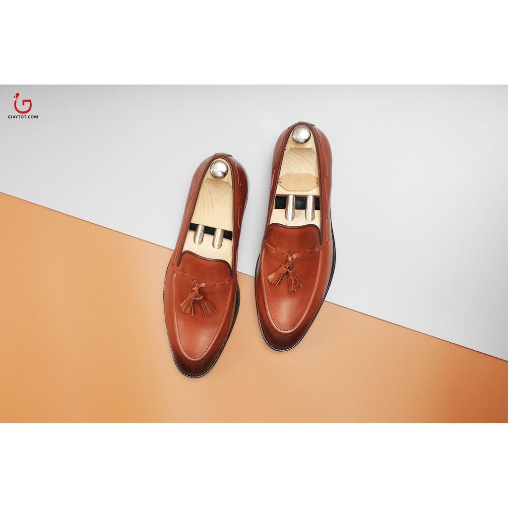 Giày lười nam James Blanc đai chuông màu nâu (JB-1038)