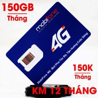 SIM MOBIFONE 4G 150GB/THÁNG