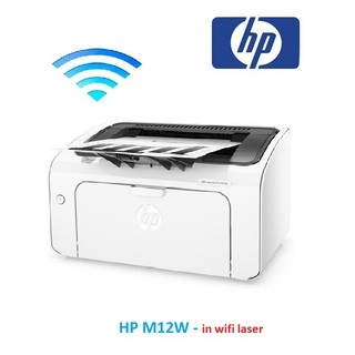 HP M12w , máy in wifi, laser trắng đen