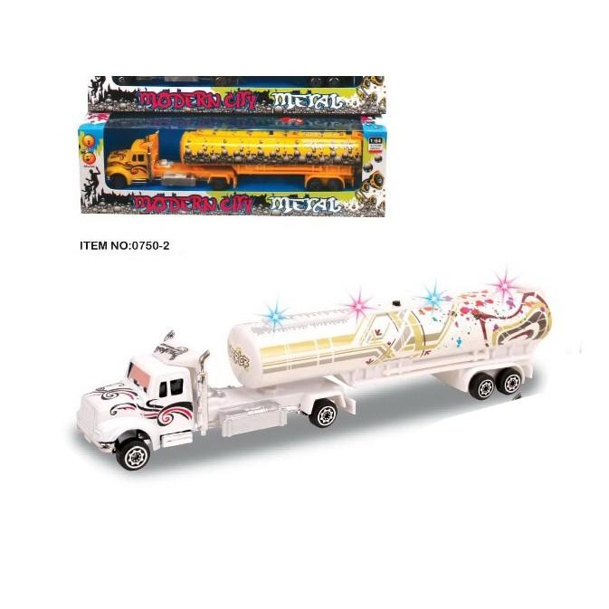 Mô hình đồ chơi xe công trình, xe bồn dài 21cm. 0750-2