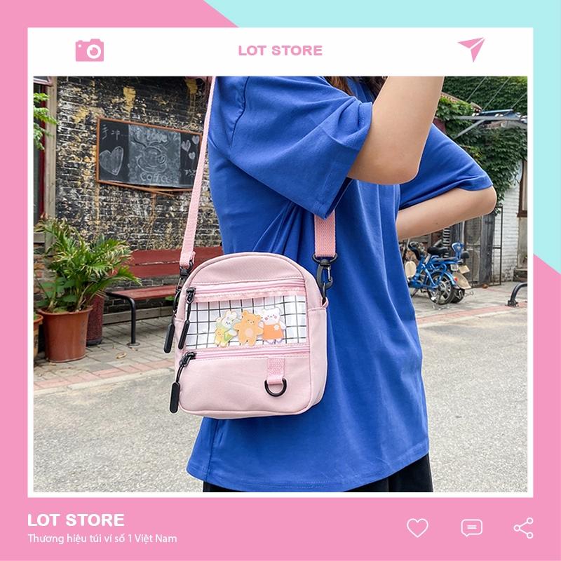 Túi đeo chéo nữ da mềm cá tính dễ thương nhiều ngăn LOT STORE TX594