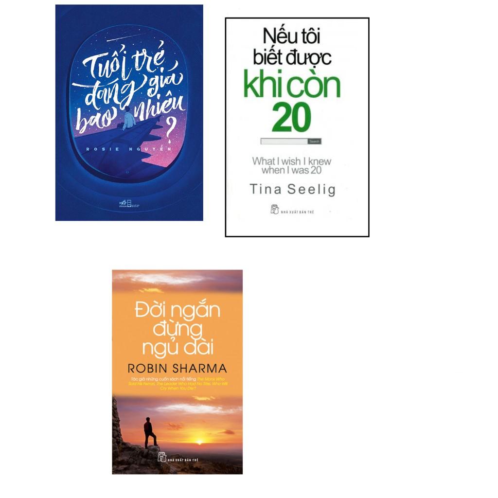 Sách-Combo ba cuốn đánh thức bạn:Tuổi trẻ đáng giá bao nhiêu+ Đời ngắn đừng ngủ dài+Nếu tôi biết được khi còn 20.