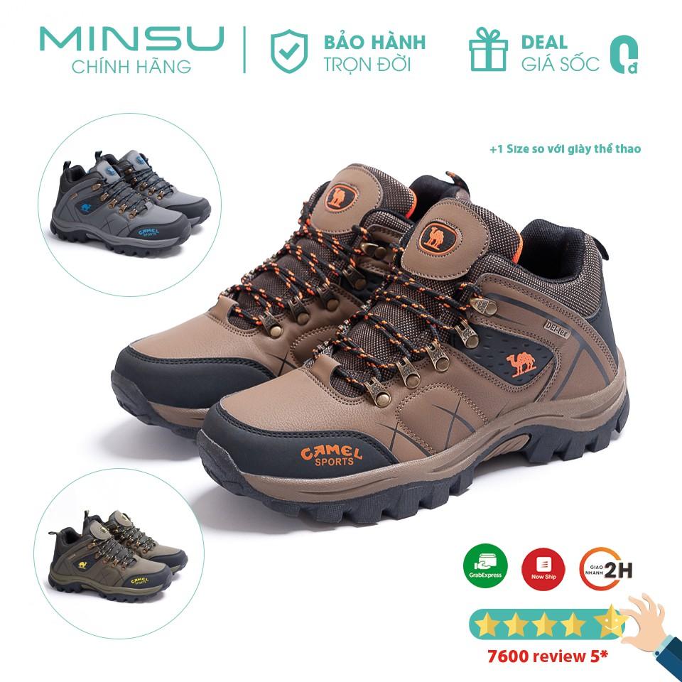 Giày Thể Thao Sneaker Leo Núi Trekking MINSU M5210 Chống Thấm Nước, Chống Trượt