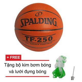 Bóng rổ Spalding TF250 All Surface Indoor Outdoor Size 7 Tặng bộ kim bơm bóng và lưới đựng bóng