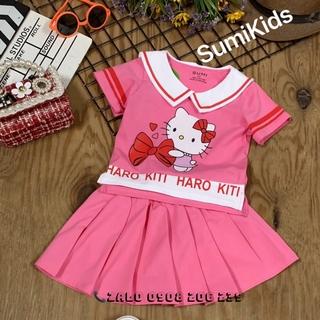 25 38kg Set váy bé gái hình kitty dễ thương hàng cao cấp