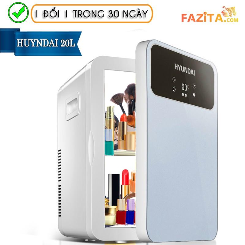 Tủ lạnh mini HUYNDAI 20L CHÍNH HÃNG loại 1 | Bảo quản mỹ phẩm cao cấp (Sẵn hàng giao ngay 2h)