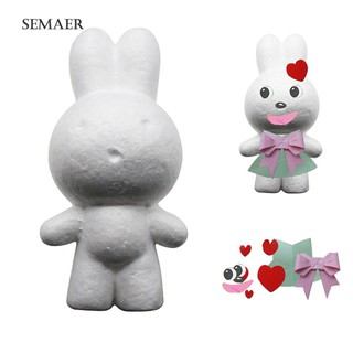 ★Sp Handmade Set Modeling Rabbit Polystyrene Foam DIY Children Craft Toy