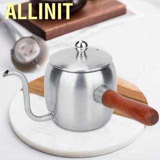 Allinit Household Stainless Steel Coffee Pot Drip Kettle Teapot Long Spout 500ml