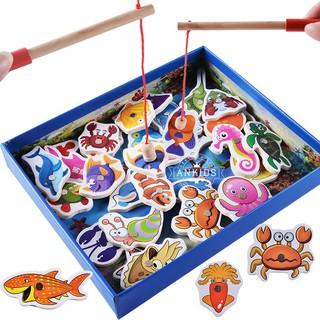 giảm giá:Bộ câu cá nam châm 32 sinh vật biển bằng gỗ