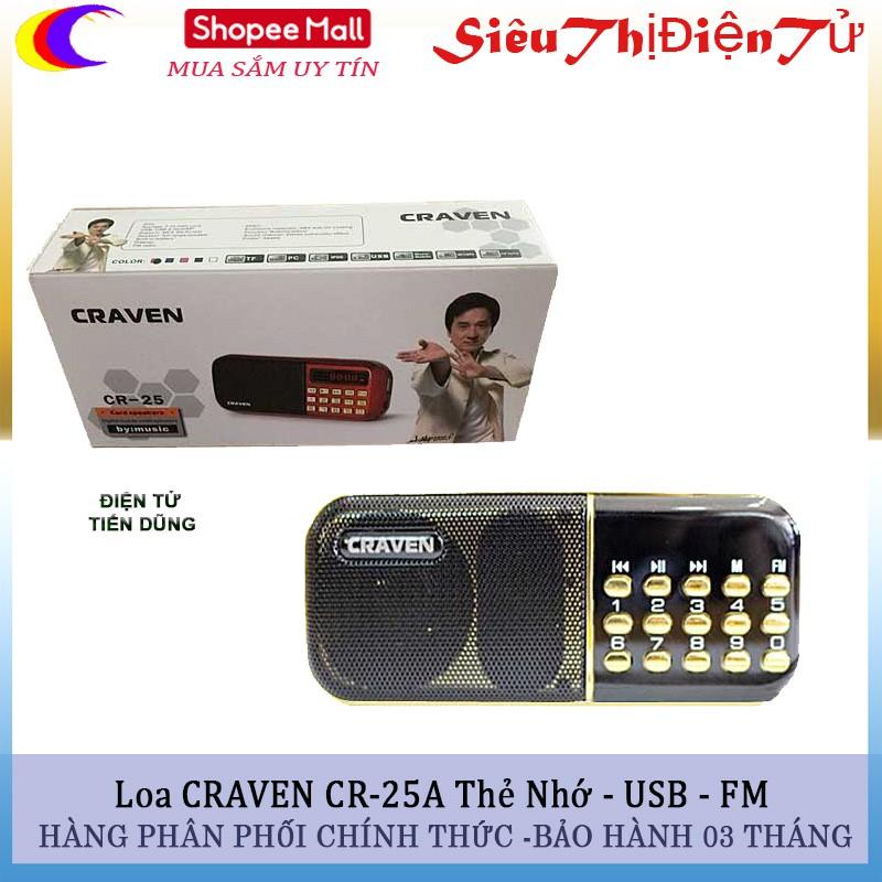 Loa CRAVEN CR-25A Hỗ trợ thẻ nhớ USB và FM - 2907110 , 1234752176 , 322_1234752176 , 159000 , Loa-CRAVEN-CR-25A-Ho-tro-the-nho-USB-va-FM-322_1234752176 , shopee.vn , Loa CRAVEN CR-25A Hỗ trợ thẻ nhớ USB và FM
