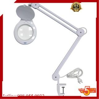 Kính lúp kẹp bàn🌳FREESHIP🌳 Kíp lúp kẹp bàn LT-86A 10X đèn LED (thấu kính phổ thông)