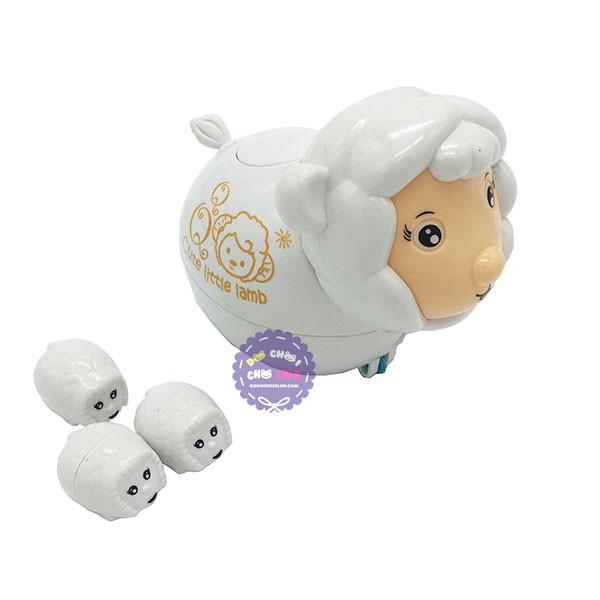 Hộp đồ chơi con cừu đẻ con vặn cót