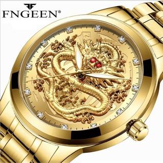Đồng hồ nam chính hãng FNGEEN RMD mặt rồng 3D cực đẹp mạ vàng sang trọng