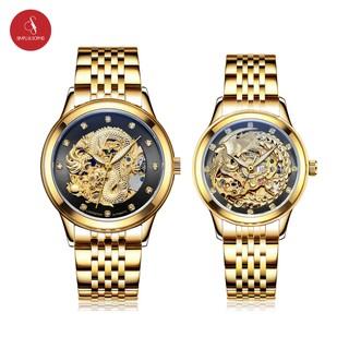 [COMBO] Đồng hồ đôi LAOGESHI 3688 RỒNG & PHƯỢNG chính hãng (Mặt đen) + Tặng hộp đựng đồng hồ thời trang thumbnail