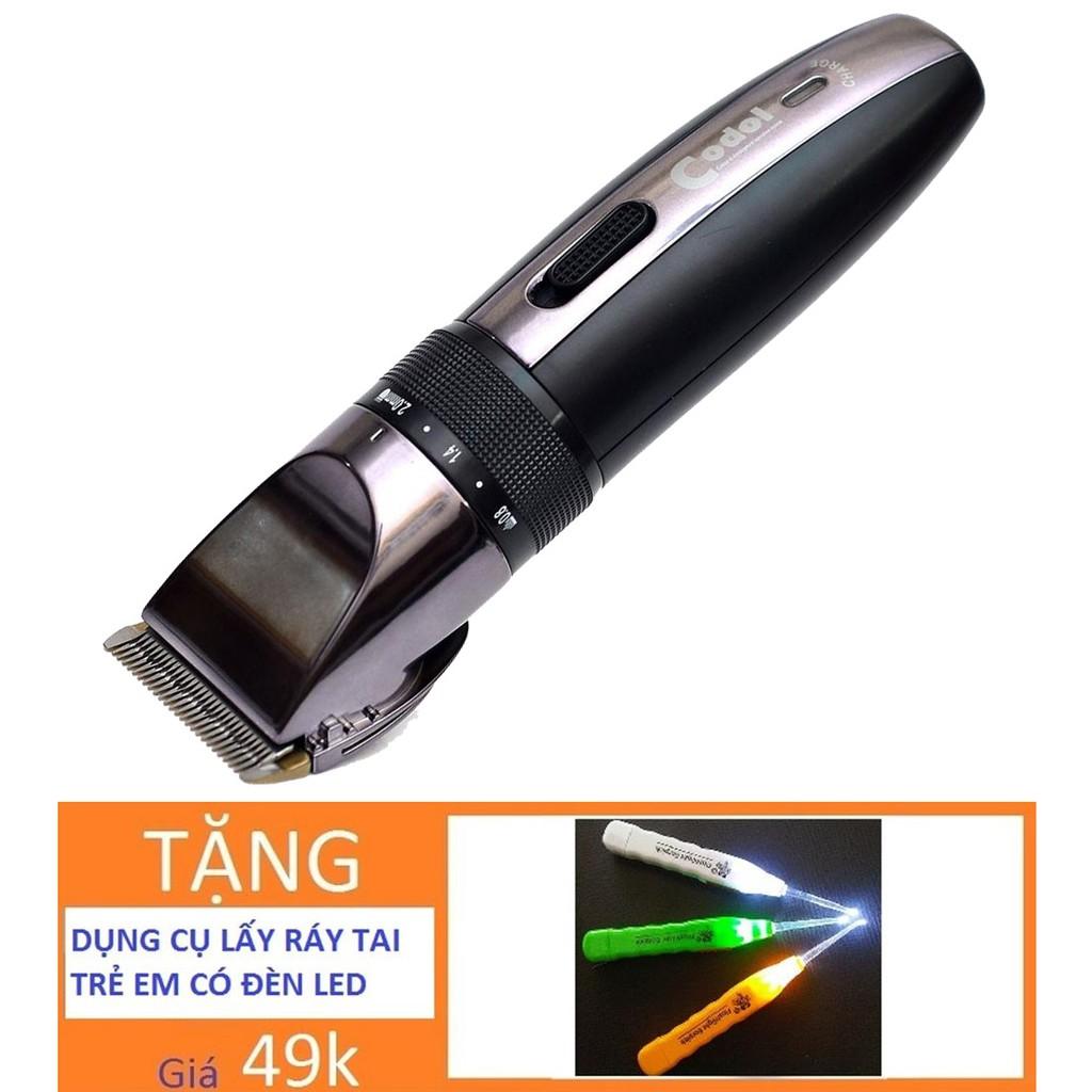 Tông đơ cắt tóc trẻ em sạc điện Codo531 TẶNG Dụng cụ vệ sinh tai có đèn soi