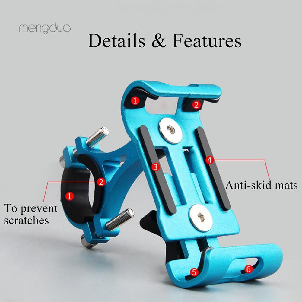 Giá đỡ điện thoại gắn ghi đông xe đạp thể thao bằng hợp kim nhôm chống trượt