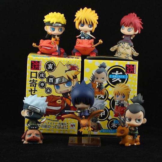 Set 6 Mô Hình Nhân Vật Phim Hoạt Hình Naruto