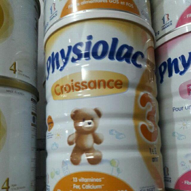 Combo 2 lon physiolac 3 900gr