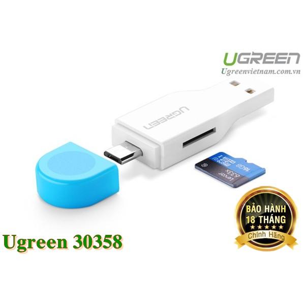 Đầu đọc thẻ 2 in 1 hỗ trợ OTG và USB TF / Micro-SD card Ugreen 30358